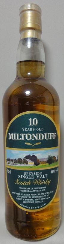 ミルトンダフ10年 ゴードン&マクファイル(GM)