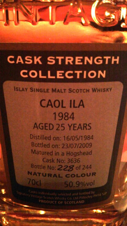カリラ1984 25年 50.9% #3636 シグナトリーカスクストレングス アップ