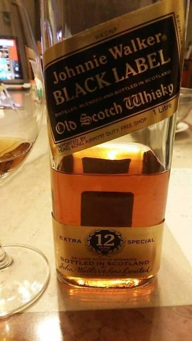 ジョニーウォーカー ブラック 12年 80年代流通 リッターボトル